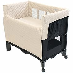 """Arm's Reach Mini Convertible™ CO-SLEEPER® brand converts from CO-SLEEPER® brand bassinett, to a free standing bassinet, to a playard. It attaches securely to the adult bed under the top mattress and fits all beds from twin to Cal King, with a bed height of 24"""". Once your child is able to pull themselves to their knees is when CO-SLEEPER® brand bassinet use should be discontinued. We offer a Leg Extension kit that can bring the height up to 30"""" in 2"""" increments. $159.00"""