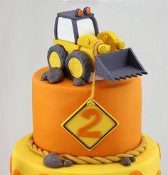 Braden Digs His Birthday Digger Birthday Cake, Digger Cake, Baby Boy Birthday Cake, 3rd Birthday Cakes, Baby Boy Cakes, Cakes For Boys, Construction Birthday Parties, Construction Party, Excavator Cake