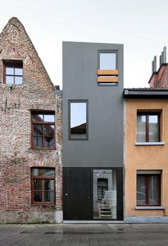 Interesting juxtaposition of new against old with this project in Belgium by Dierendonck Blancke Architecten, forming an apartment over the two upper levels.