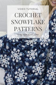 Are you on the hunt for a Crochet Snowflake Pattern we have included lots of free versions you will love and a video tutorial too. Dishcloth Knitting Patterns, Crotchet Patterns, Afghan Crochet Patterns, Crochet Squares, Crochet Ideas, Knit Dishcloth, Crochet Afghans, Knitting Stitches, Crochet Doilies
