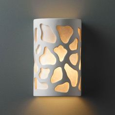 Ambiance Hammered Pewter Large Cobblestones Two-Light Bathroom Wall Sconce - (In FFF-Hammered Pewter(HMPW))