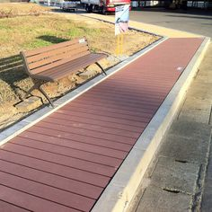 Red-brown WPC flooring,with anti-moth and no cracking function #wpc #wpcdeck #deck #decking #outdoordecking #floor #outdoorflooring