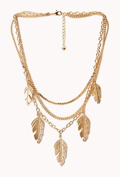 Earthy Multi-Chain Necklace | FOREVER21 Get in touch with nature #Accessories #Leaf #MustHave #Layers