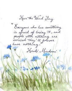 Haruki Murakami - Hear the Wind Sing Cs Lewis, Haruki Murakami, Singing, Reading, Quotes, Tea, Books, Quotations, Livros