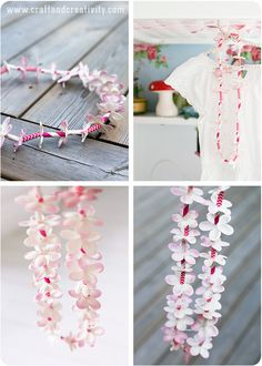 Hawaiian Paper Leis - adorable and simple craft