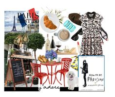 """""""Parisian Bistro"""" by hangar-knjiga ❤ liked on Polyvore featuring Lonely Planet, Alice + Olivia, Betmar, L'Oréal Paris, Yves Saint Laurent, Brucs, Gucci, Pier 1 Imports, EASEL and Höganäs Ceramic"""
