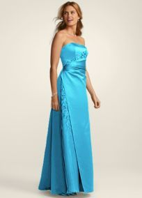 @Tami Daffer  Satin and Organza Strapless Gown with Beaded Inset. Style F12385. $170. Bridesmaids in Malibu.