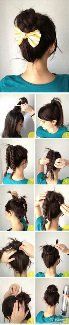 Adorable. <3 Something to do with my hair for school to not try too hard.