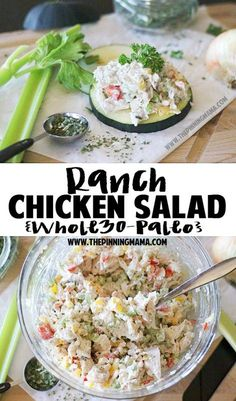 Paleo Chicken Salad Recipe - You would never know this was for a special diet because it is AMAZING!  It is so full of flavor.  I served it at a brunch I hosted and everyone asked for the recipe.  This is an awesome twist on the classic chicken salad recipe!  It is a bonus that it is naturally gluten free dairy free low carb and paleo + whole30 compliant!