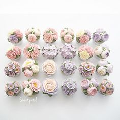 WEBSTA @ sweetpetalcake - Flower buttercream cupcake set