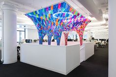 SOFTlab's installation casts color on behance's new york HQ