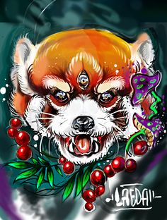 Neo Traditional Red Panda