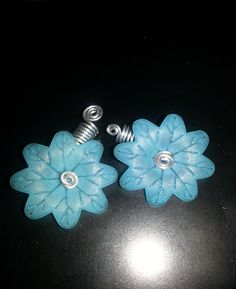 Blue Spinning Flower Loc Jewel Slide 2 pc Simply by NaturalJaurney, $12.00