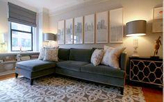 Cómo decorar el salón con un sofá chaiselongue