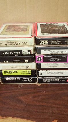 Lot of 12 Rock 'n Roll 8-track tapes,THE DOORS, ROLLING STONES, JANIS JOPLIN, The Guess Who, 8 Track Tapes, Stephen Stills, Sticky Fingers, Janis Joplin, Ol Days, Good Ol, Greatest Hits, Rolling Stones
