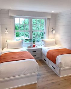 small bedroom design , small bedroom design ideas , minimalist bedroom design for small rooms , how to design a small bedroom Small Guest Rooms, Guest Bedrooms, Twin Bedroom Ideas, Twin Girl Bedrooms, Bedroom Girls, Teenage Girl Bed, Twin Bed For Girls, Bunk Rooms, Small Room Design