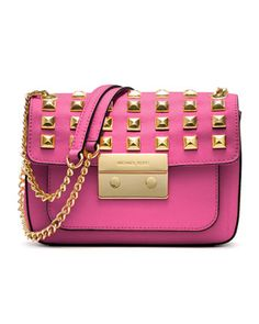 Small Sloan Studded Shoulder Bag by MICHAEL Michael Kors at Neiman Marcus.