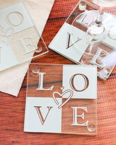 Give a wonderfully romantic favor that your guests will be able to use for years to come. These quality, glass coasters are practical wedding, bridal shower and anniversary party favors that even the most discerning guest will appreciate.