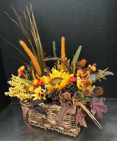 Fall Basket by Andrea