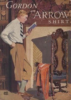 Vintage Arrow Shirt Art | dandy advertising arrow shirts arrow shirts