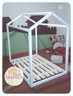 Cama Casita Infantil Montessori (90x1,40 Colchón) - $ 4.500,00