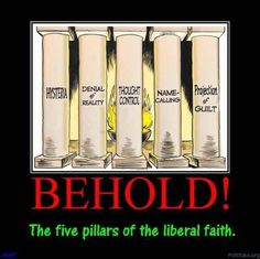 behold! the five pillars of the conservative faith: cognitive dissonance, prejudice, elitism, hate, and idiocracy!