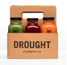 Juice: Recycled from our planet's most natural food source. Package: DROUGHT's gift back to our planet - an eco-friendly, biodegradable packaging.