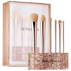 I AM DYING!!! I need this for Christmas Glitter Happy Brush Set - SEPHORA COLLECTION   Sephora