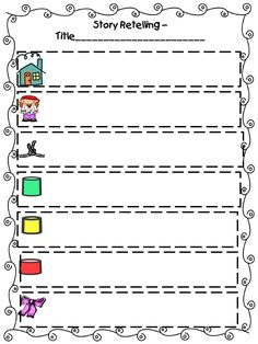 Retelling Rope, Student Page and Poem With Student Rope Pics Kindergarten Assessment, Kindergarten Reading, Teaching Reading, Readers Notebook, Readers Workshop, Social Skills Lessons, Math Lessons, Retelling Rope, Teaching Vowels