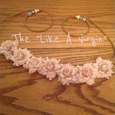 Cream Roses Flower Headband, Festival Wear, Hippie Wear, Flower Halo, Flower Crown, Coachella, bridal wear, EDC, on Etsy, $15.00