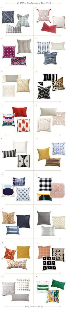 18 No Fail Pillow Combos