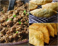 Jamaican Beef Patties sure make my mouth water! There are a few places in Anguilla that serve these flakey and zesty treats. One of our favorites is Mary's Bakery. They make them fresh everyday, serving beef, chicken and turkey. Jamaican Beef Patties, Jamaican Patty, Jamaican Recipes, Beef Recipes, Cooking Recipes, Caribbean Recipes, Caribbean Food, Great Recipes, Favorite Recipes
