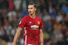 Zlatan Ibrahimovic of Manchester United during the Premier League match between Hull City and Manchester United at KC Stadium on August 27 2016 in...