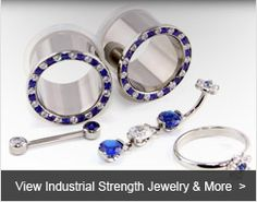 Welcome to Industrial Strength - High Quality Body Jewelry since 1991 Not all body jewelry is created equal. The jewelry manufactured by INDUSTRIAL STRENGTH clearly stands high above the rest. Our line of 316 LVM ASTM F-138 Implant Grade Stainless Steel & 6AL4V ASTM F-136 Implant Grade Titanium Body