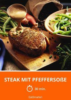 Steaks, Eat Smarter, Baked Potato, Potatoes, Meat, Baking, Ethnic Recipes, Food, Easy Meals