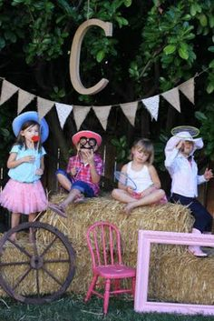 Claire's Cowgirl Party 3rd Birthday Photo Booth (The Larson Lingo)