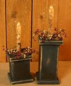 Easy Primitive Craft Ideas | ... Pillars - Black-candles,holders ...
