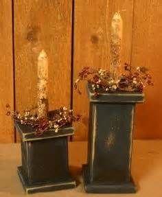 Easy Primitive Craft Ideas   ... Pillars - Black-candles,holders ...