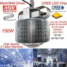 ==> [Free Shipping] Buy Best 150W CREE LED HIGH BAY LIGHT WITH MEANWELL POWER SUPPLY AC90-305V for factory /warehouse used work light 5 YEARS WARRANTY Online with LOWEST Price | 32312171333