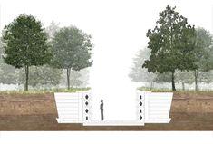 Lions Town, An Ecological Cemetery Landscape Architecture Drawing, Landscape Concept, Urban Landscape, Landscape Designs, Memorial Architecture, Architecture Student, Plan Maestro, Wetland Park, Ecology Design