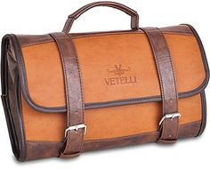 Vetelli Hanging Toiletry Bag for Men - Dopp Kit   Travel Accessories Bag    Great Gift 71aa5446bff1e