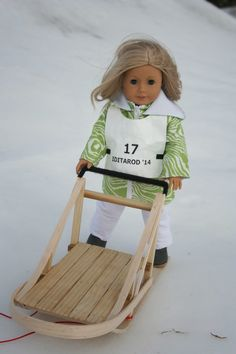 Arts and Crafts for your American Girl Doll: Iditarod race tag for American Girl Doll