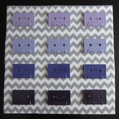 Sarah SaturDIY: Ombre Cassette Tape Art. Get cassettes at your local thrift store and rock this fun DIY :)