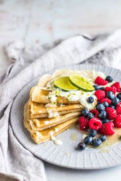 My Vibrant Kitchen | Vegan Crepes With Zingy Lime Syrup | www.myvibrantkitchen.com