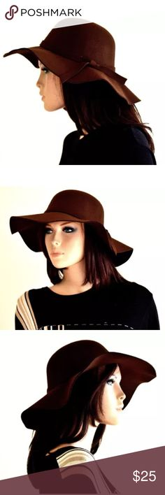 8141389fe9ddc Brown felt hat floppy hat wide brim hats sun hat Proudly introducing Sassy    Cool brown