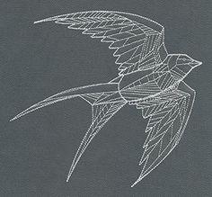 Tattoo Geometric Bird Patterns 65 Ideas For 2019 – Tattoo Geometric Tattoo Bird, Black Bird Tattoo, Bird Drawings, Tattoo Drawings, Trendy Tattoos, Small Tattoos, Swallow Bird Tattoos, Art Textile, Bird Patterns