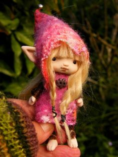 sweet tiny  posable ooak fairy fairie elf by throughthemagicdoor