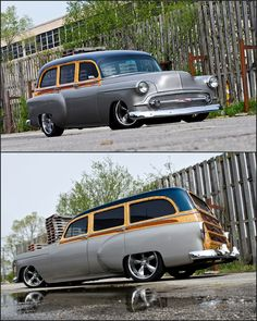 1953 Chevy Woody - gotta love these old Woodies Classic Hot Rod, Classic Cars, Hot Rods, Muscle Cars, Vintage Cars, Antique Cars, Automobile, Woody Wagon, Shooting Brake