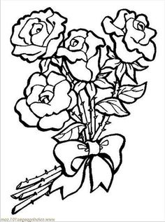 Coloring Pages Of Different Types Of Flowers. Roses Coloring Pages  Station Types Of FlowersSun Peonies Garden and Earthworm Batch