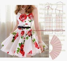 Dress cutting Pattern